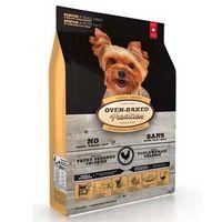 Kompletní v troubě pečené chovatelské krmivo pro psy seniory nebo obézní s kuřecím a rybím masem. Malé granule.