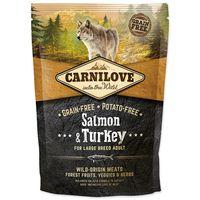 Kompletní, vyvážené a kvalitní krmivo pro dospělé psy velkých a obřích plemen s lososem a krocanen - 50% masa. Bez obilovin.