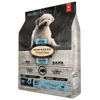 Kompletní v troubě pečené chovatelské krmivo pro psy všech věkových kategorií s rybím masem bez obilovin. Malé granule.