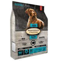 Kompletní v troubě pečené chovatelské krmivo pro psy všech věkových kategorií s rybím masem bez obilovin. Střední granule.