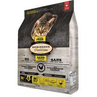 Kompletní pečené krmivo pro kočky všech věkových stadií. Receptura s kuřecím masem - 55% bez obilovin.