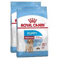 Kompletní krmivo pro psy - speciálně pro štěňata středních plemen (hmotnost v dospělosti 11 až 25 kg) - do 12 měsíců. 2 x 15 Kg