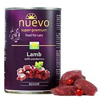 Kompletní, superprémiové krmivo pro starší kočky všech plemen, obohaceno o jehněčí maso s brusinkami.
