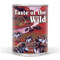 Doplňkové krmivo pro psy všech věkových stádií s hovězím, jehněčím masem a divočákem.