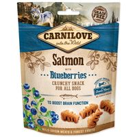 Křupavá odměna z divočiny (bez obilovin a bez brambor) losos s borůvkami - pro podporu funkce mozku