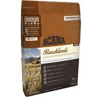 ACANA Ranchlands obsahuje čerstvé jehněčí, volně chovaná kuřata, celá vejce z hnízdních chovů, volně lovenou štiku a volně chované krůty ze západní Kanady.
