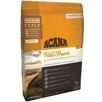 krmivo ACANA Wild Prairie vyniká jedinečnými regionálními surovinami, které jsou dodávané ze západních kanadských farem a vod.